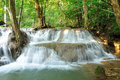 Hui Mea Khamin Waterfall, Kanchanabury, Thailand Royalty Free Stock Photography