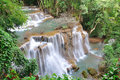 Hui Mea Khamin Waterfall, Kanchanabury, Thailand Royalty Free Stock Images