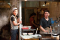 Hui waiter and chef at Muslim Street in Xian Royalty Free Stock Photography