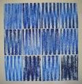 Huile bleu outremer sur papier, 2006 - 2007
