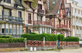 Huis in trouville sur mer in normandie Stock Afbeeldingen