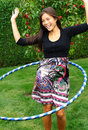 Hula hoop girl Stock Photo