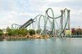 The hulk rollercoaster at universal studios islands of adventur orlando usa august adventure theme park Royalty Free Stock Images