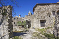 Hum the smallest town in the world istria croatia Stock Photos