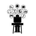 Human activities over white background vector illustration Stock Image
