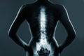 Human backbone in x-ray Royalty Free Stock Photo