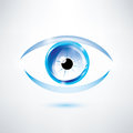 Human blue eye abstract shape Stock Photos