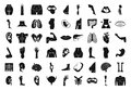 Human body icon set, simple style Royalty Free Stock Photo