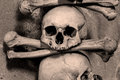 Human bones at the kutna hora ossuary czech republic Royalty Free Stock Image