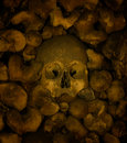 Human bones and skulls, Chapel of Bones in Evora Royalty Free Stock Image
