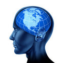Human brain north America U.S.A. Canada Mexico Stock Photography