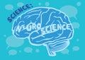 Human Brain Vector Illustration for Neuroscience