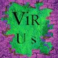 Human cage destruction virus epidemic concept digitally generated image Stock Image