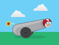 Human cannonball about to be shot Royalty Free Stock Photo
