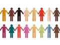 Human Chain colorful Stock Images
