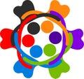 Human circle logo Royalty Free Stock Photo