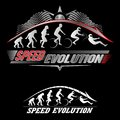 Human evolution of speed set Stock Photography