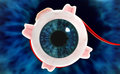 Human eye digital illustration of a in digital background Royalty Free Stock Images