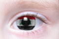 Human eye with national flag of iraq Royalty Free Stock Photo