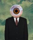 Human Eyeball, Business Suit, Tie Royalty Free Stock Photo