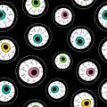 Human eyeball hand drawn stitch patch pattern Royalty Free Stock Photo