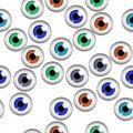 Human eyes seamless pattern Stock Photos