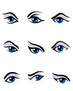 Human eyes set Royalty Free Stock Images