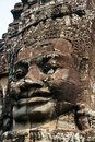 The human face image in angkor wat in vietnam is angkorwat carving art is so exquisite grand sight is astonishing Royalty Free Stock Photography