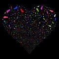 Human Footprint Fireworks Heart