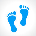 Human footprint vector icon