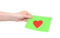 Human hand and love letter Royalty Free Stock Image