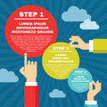 Human Hands With Infographic R...