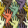 Human hands - seamless pattern Stock Photography