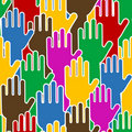 Human hands - seamless pattern Royalty Free Stock Photography