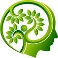 Human head leaf logo