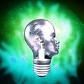 Human Head Light Bulb Royalty Free Stock Photo