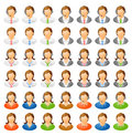 Human icon set Royalty Free Stock Photo