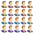Human icon set portrait of businessmen in suits of different colors different colors ties vector illustration Royalty Free Stock Photography