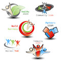 Human icons community business illustration Royalty Free Stock Images