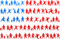 Human icons USA flag 2 Stock Images