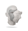 Human mask a psychology concept illustration Stock Photos