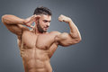 Human Muscle Bicep Growth concept Royalty Free Stock Photo