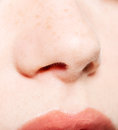 Human nose female close up Royalty Free Stock Photography