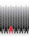 Human pixel figures Stock Photo