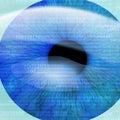 Human pupil Stock Image