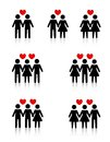 Human relationships clipart collection representing love sexual Royalty Free Stock Image