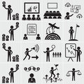 Human resource business and management icon set vector Stock Photo