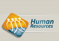 Human resource concept abstract illustration with magnifying glass Royalty Free Stock Photos