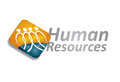Human resource concept abstract illustration with magnifying glass Stock Images