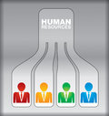 Human resource concept abstract illustration with sign Stock Photography